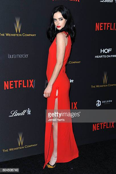 Krysten Ritter arrives at the 2016 Weinstein Company and Netflix Golden Globes After Party on January 10 2016 in Los Angeles California