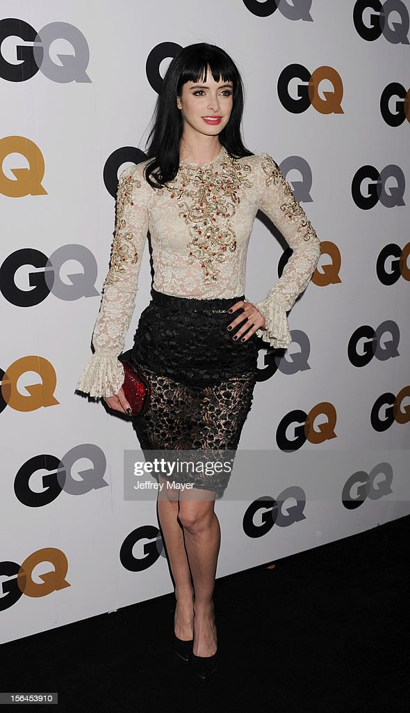 Krysten Ritter arrives at the GQ Men Of The Year Party at Chateau Marmont Hotel on November 13, 2012 in Los Angeles, California.