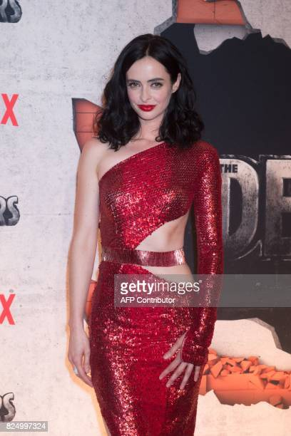Krysten Ritter arrives for the Netflix premiere of Marvel's 'The Defenders' on July 31 2017 in New York / AFP PHOTO