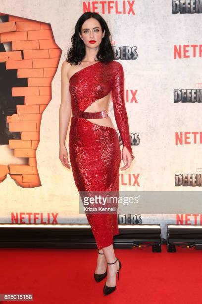 Krysten Ritter arrives to the 'Marvel's The Defenders' New York Premiere at Tribeca Performing Arts Center on July 31 2017 in New York City