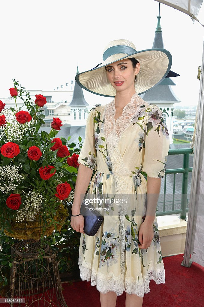 Krysten Ritter at the GREY GOOSE Red Carpet Lounge at the Kentucky Derby at Churchill Downs on May 4, 2013 in Louisville, Kentucky.