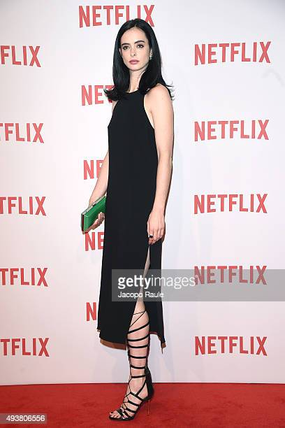 Krysten Ritter attends a red carpet for the Netflix launch at Palazzo Del Ghiaccio on October 22 2015 in Milan Italy