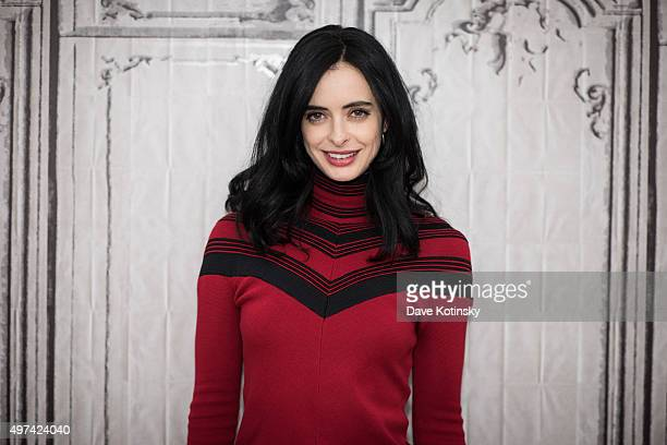 Krysten Ritter attends AOL Build Presents to discuss 'Jessica Jones' at AOL Studios In New York on November 16 2015 in New York City