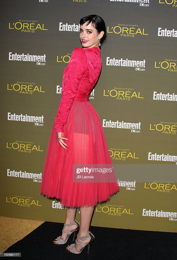 Krysten Ritter attends the 2012 Entertainment Weekly Pre-Emmy Party at Fig & Olive Melrose Place on September 21, 2012 in West Hollywood, California.