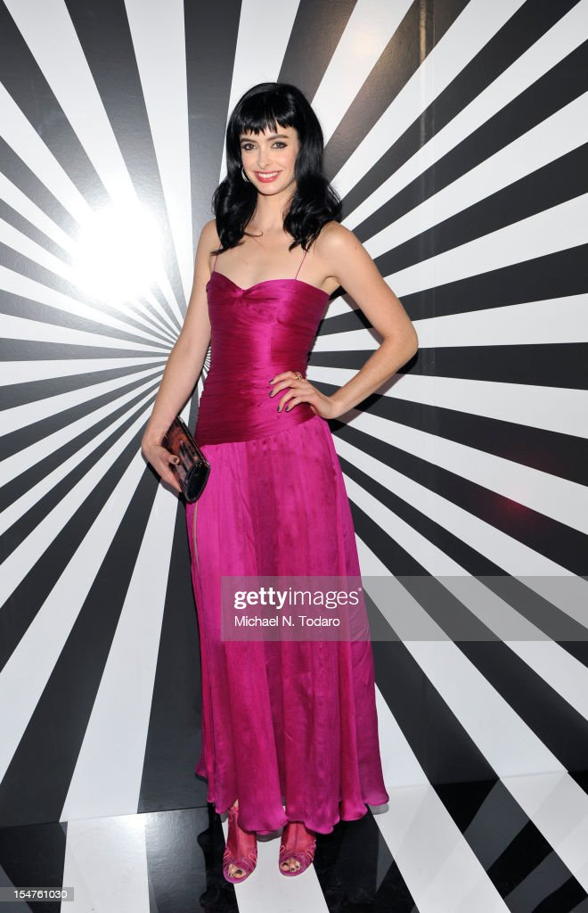 <a gi-track='captionPersonalityLinkClicked' href=/galleries/search?phrase=Krysten+Ritter&family=editorial&specificpeople=655673 ng-click='$event.stopPropagation()'>Krysten Ritter</a> attends the celebration of the collaboration between Jimmy Choo and Artist Rob Pruitt at The Fletcher Sinclair Mansion on October 25, 2012 in New York City.