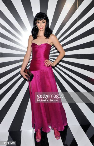 Krysten Ritter attends the celebration of the collaboration between Jimmy Choo and Artist Rob Pruitt at The Fletcher Sinclair Mansion on October 25...