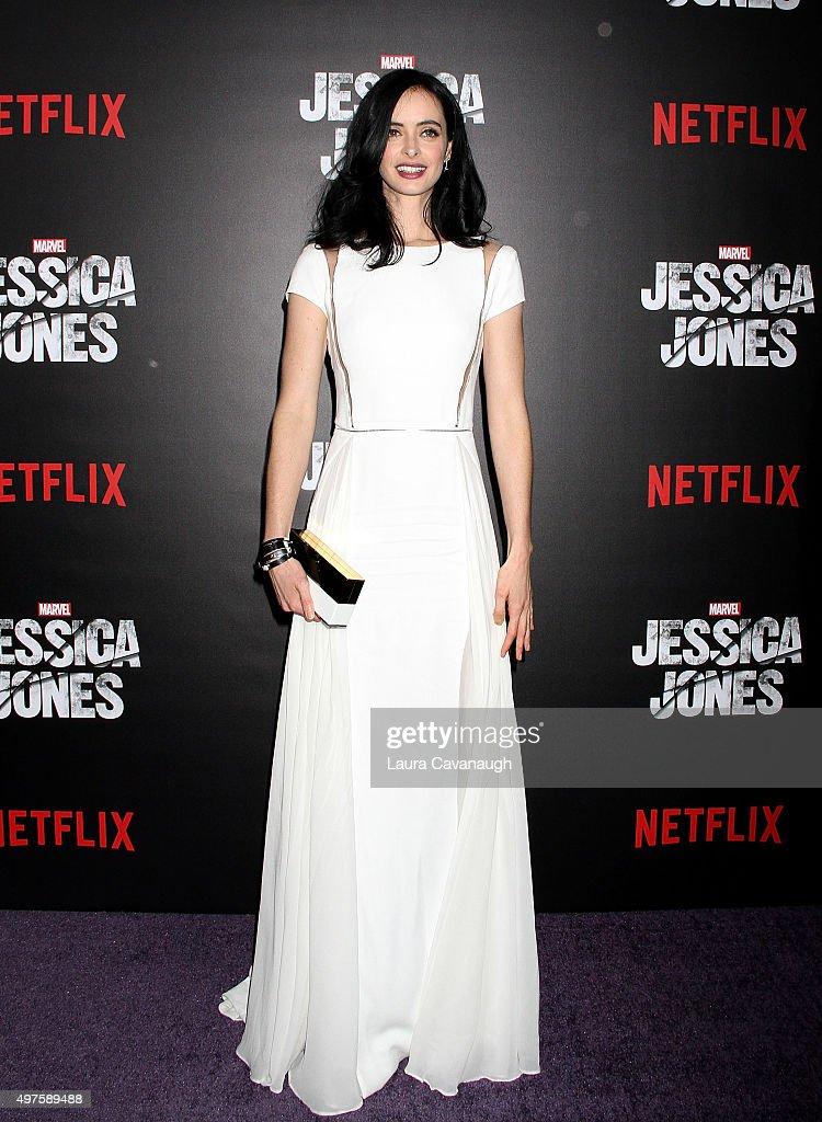 Krysten Ritter attends the 'Jessica Jones' series premiere at Regal EWalk on November 17 2015 in New York City