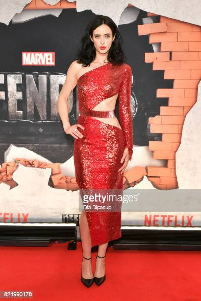 Krysten Ritter attends the 'Marvel's The Defenders' New York Premiere at Tribeca Performing Arts Center on July 31 2017 in New York City