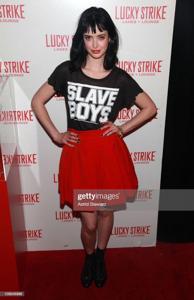 Krysten Ritter attends the Puma x Lucky Strike Bowling Shoe launch at Lucky Strike on July 28, 2011 in New York City.