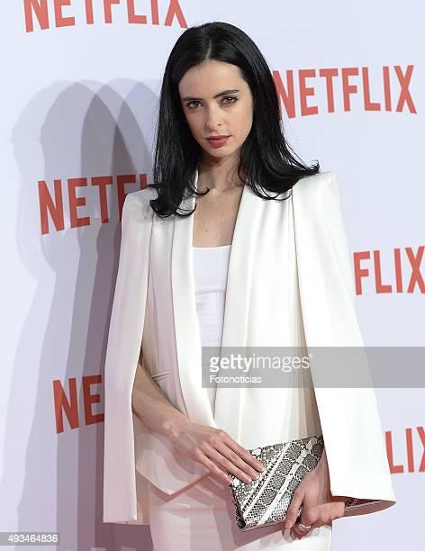Krysten Ritter attends the red carpet of Netflix presentation at the Matadero Cultural Center on October 20 2015 in Madrid Spain