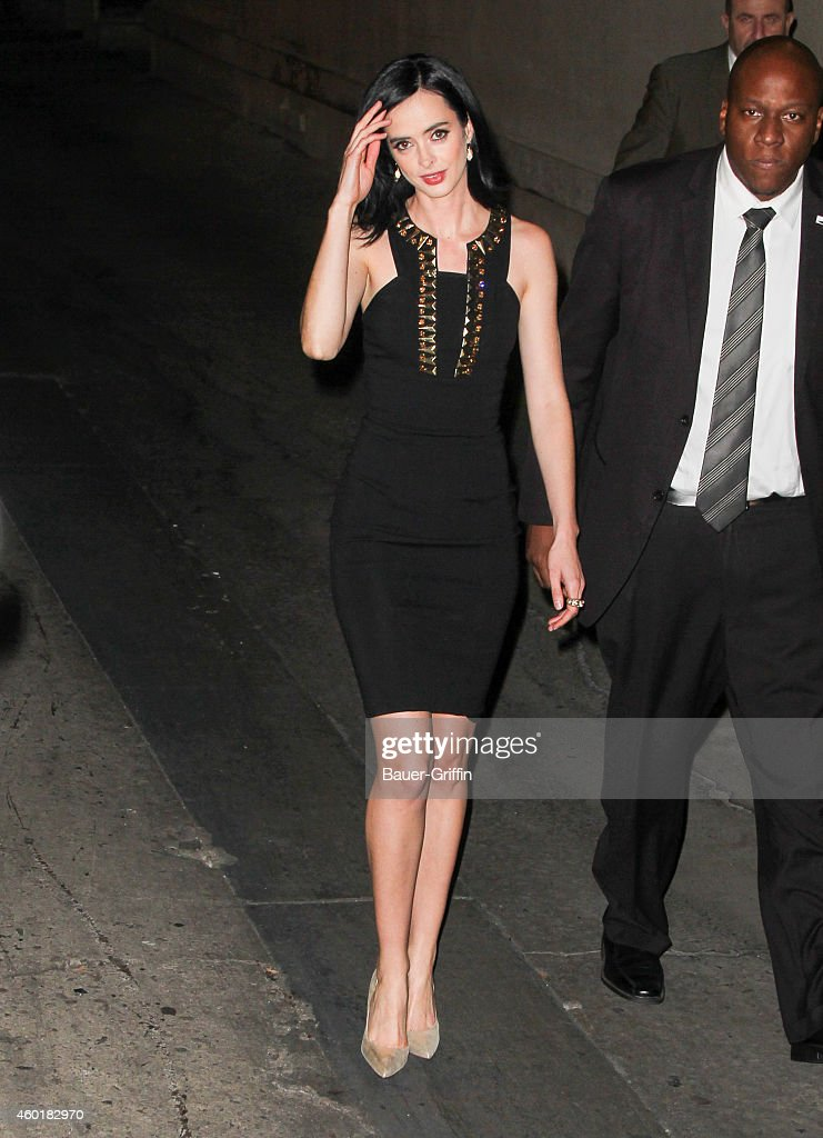 Krysten Ritter is seen at 'Jimmy Kimmel Live' on December 08 2014 in Los Angeles California