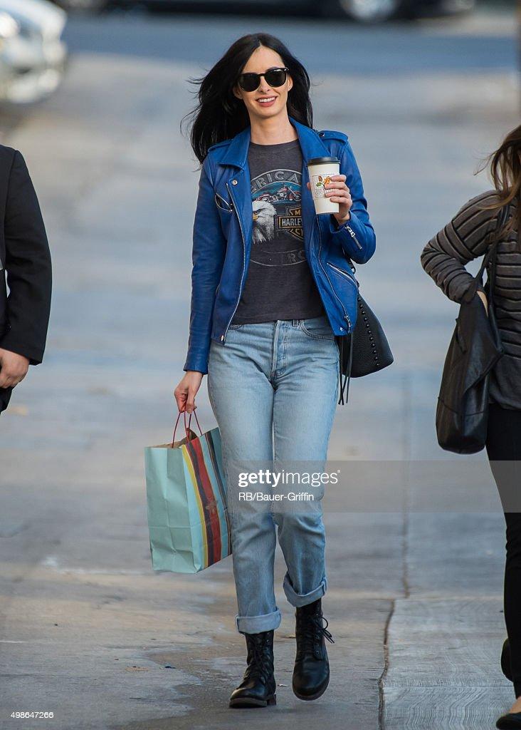 Krysten Ritter is seen at 'Jimmy Kimmel Live' on November 24 2015 in Los Angeles California