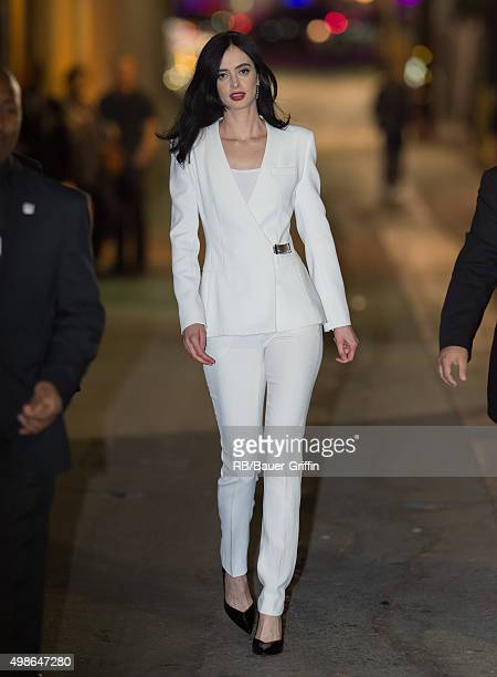 Krysten Ritter is seen at 'Jimmy Kimmel Live' on November 24 2015 in Los Angeles California