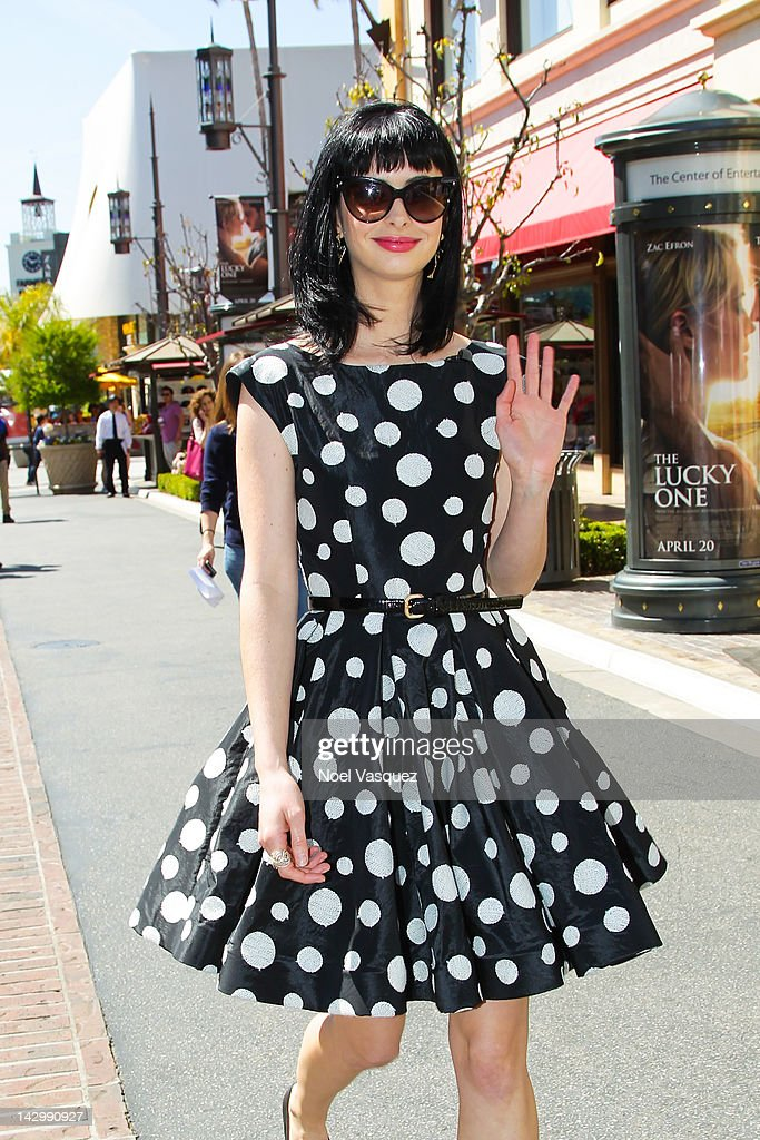 Krysten Ritter is seen at The Grove on April 16, 2012 in Los Angeles, California.