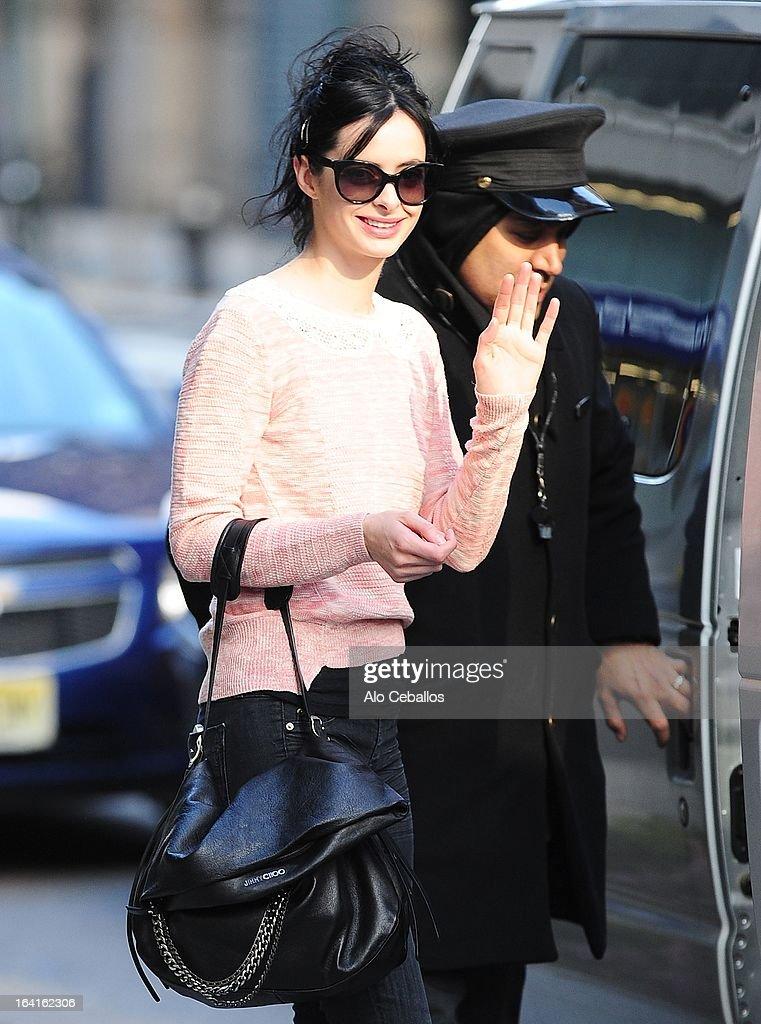 Krysten Ritter is seen Soho on March 20, 2013 in New York City.