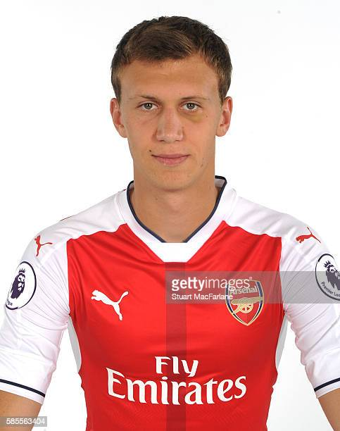 Krystian Bielik of Arsenal at the 1st team photocall at London Colney on August 3 2016 in St Albans England