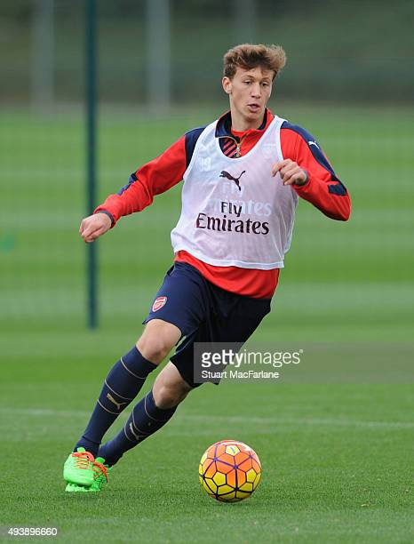 Krystian Bielik of Arsenal during a training session at London Colney on October 23 2015 in St Albans England