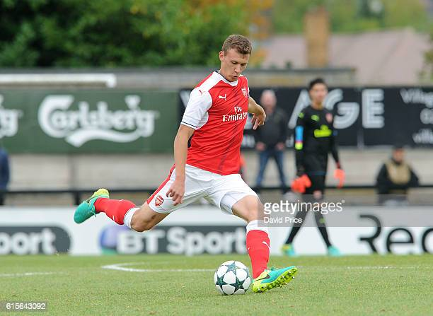 Krystian Bielik of Arsenal during the match between Arsenal and Ludogorets Razgrad in the UEFA Youth League at Meadow Park on October 19 2016 in...