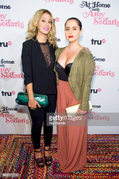 Krystyna Hutchinson and Corinne Fisher attend 'At Home With Amy Sedaris' New York Screening at The Bowery Hotel on October 19 2017 in New York City