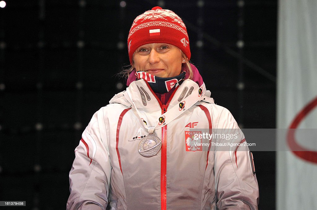 Krystyna Palka of Poland takes 2nd place during the IBU Biathlon World Championship Women's 10km Pursuit on February 10, 2013 in Nove Mesto, Czech Republic.