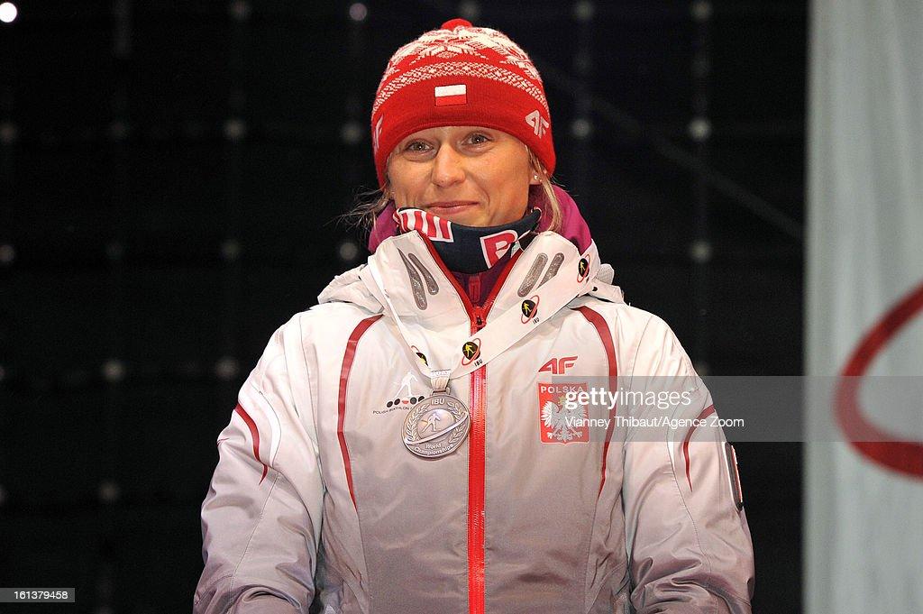Krystyna Palka of Poland takes 2nd place during the IBU Biathlon World Championship Women's 10km Pursuit on February 10, 2013 in Nove Mesto, Czech Republic.