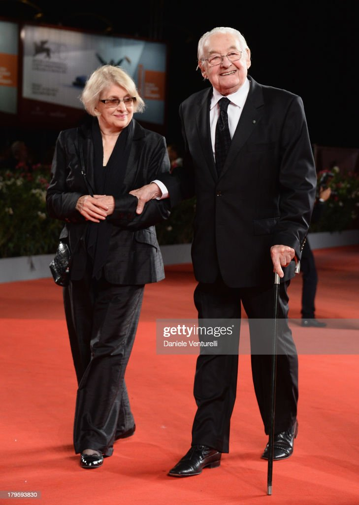 Krystyna Zachwatowicz and director Andrzej Wajda attend 'Walesa. Man of Hope' Premiere And Premio Persol Ceremony during the 70th Venice International Film Festival at Sala Grande on September 5, 2013 in Venice, Italy.