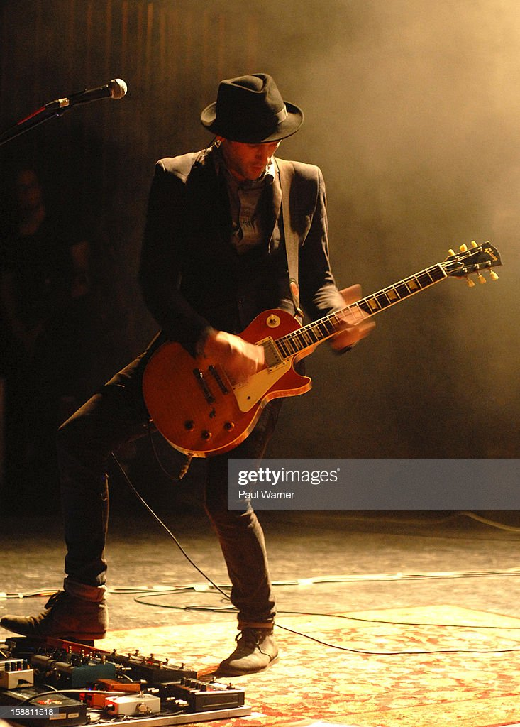 Kryz Reid of Third Eye Blind performs with the band at The Fillmore on December 29, 2012 in Detroit, Michigan.