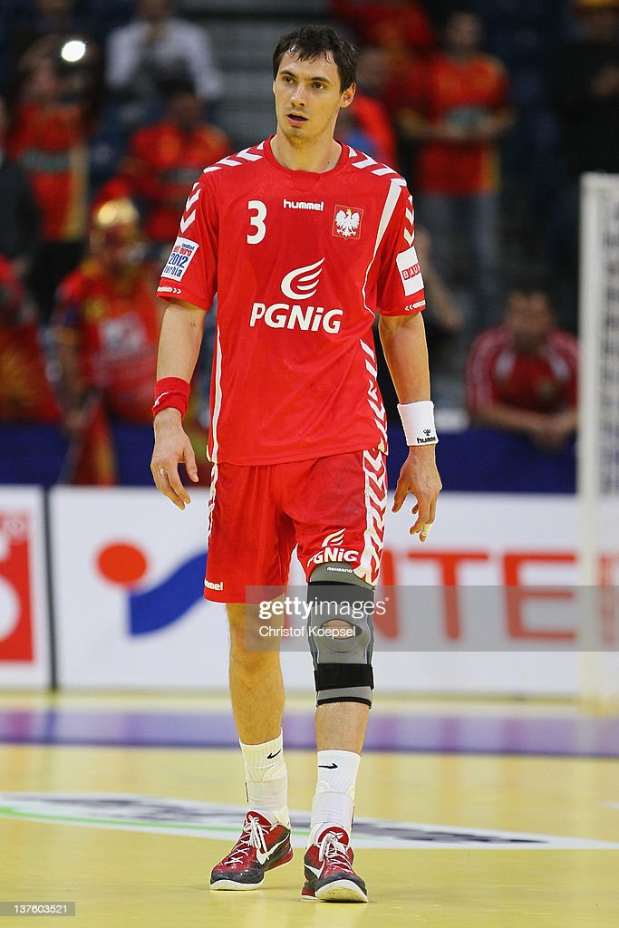 Krzysztof Lijewski of Poland looks dejected after losing 25-27 the Men's European Handball Championship second round group one match between Poland and Macedonia at Beogradska Arena on January 23, 2012 in Belgrade, Serbia.