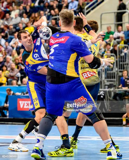 Krzysztof Lijewski of Tauron Kielce in action during the EHF Men's Champions League Group Phase game between RheinNeckar Loewen and KS Vive Tauron...