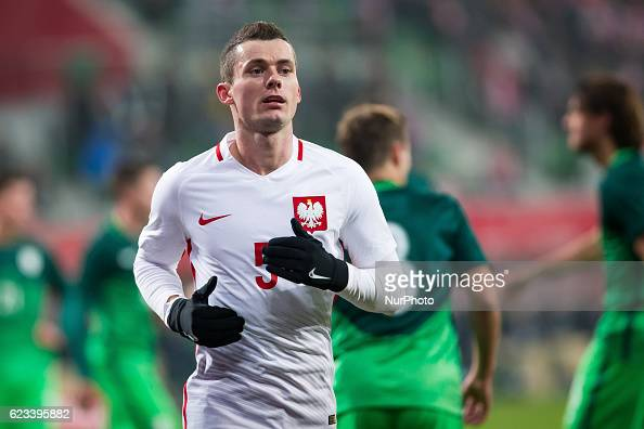 Krzysztof Maczynski of Poland during the international friendly football match Poland vs Slovenia on November 14 2016 in Wroclaw