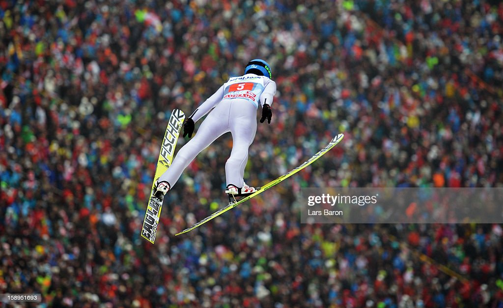 Krzysztof Mietus of Poland competes during the first round for the FIS Ski Jumping World Cup event of the 61st Four Hills ski jumping tournament at Bergisel-Stadion on January 4, 2013 in Innsbruck, Austria.
