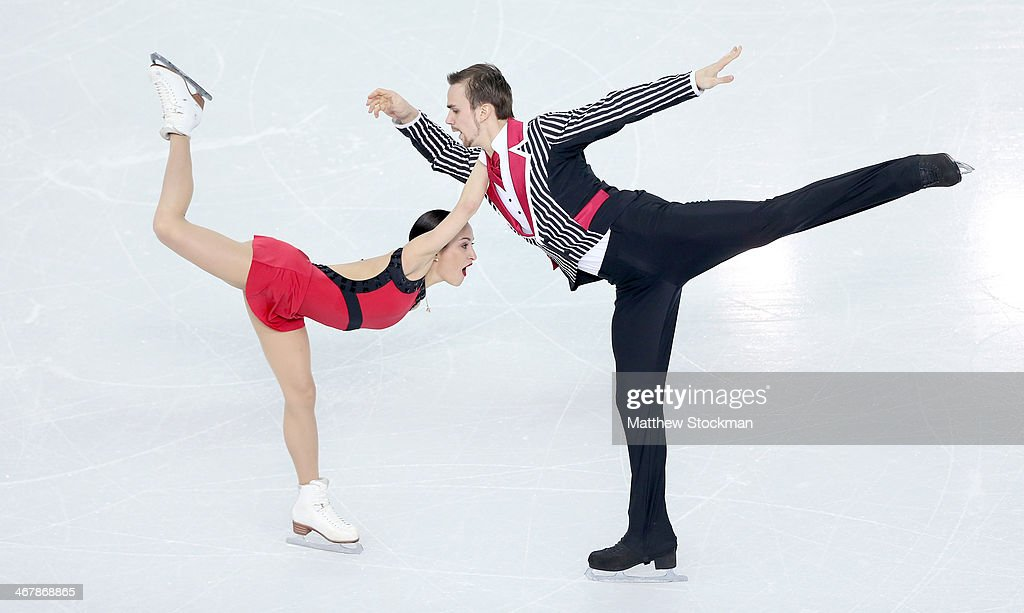 <a gi-track='captionPersonalityLinkClicked' href=/galleries/search?phrase=Ksenia+Stolbova&family=editorial&specificpeople=7338286 ng-click='$event.stopPropagation()'>Ksenia Stolbova</a> and <a gi-track='captionPersonalityLinkClicked' href=/galleries/search?phrase=Fedor+Klimov&family=editorial&specificpeople=7338285 ng-click='$event.stopPropagation()'>Fedor Klimov</a> of Russia compete in the Figure Skating Team Pairs Free Skating during day one of the Sochi 2014 Winter Olympics at Iceberg Skating Palace on February 8, 2014 in Sochi, Russia.