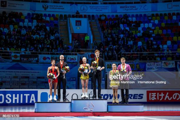 Ksenia Stolbova and Fedor Klimov of Russia Evgenia Tarasova and Vladimir Morozov of Russia Kristina Astakhova and Alexei Rogonov of Russia pose in...