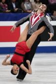 Ksenia Stolbova and Fredor Klimov of Russia compete in the Pairs Free Program during ISU World Figure Skating Championships at Saitama Super Arena on...