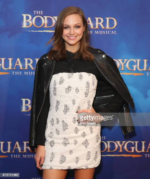 Ksenija Lukich arrives ahead of opening night of The Bodyguard The Musical at Lyric Theatre Star City on April 27 2017 in Sydney Australia