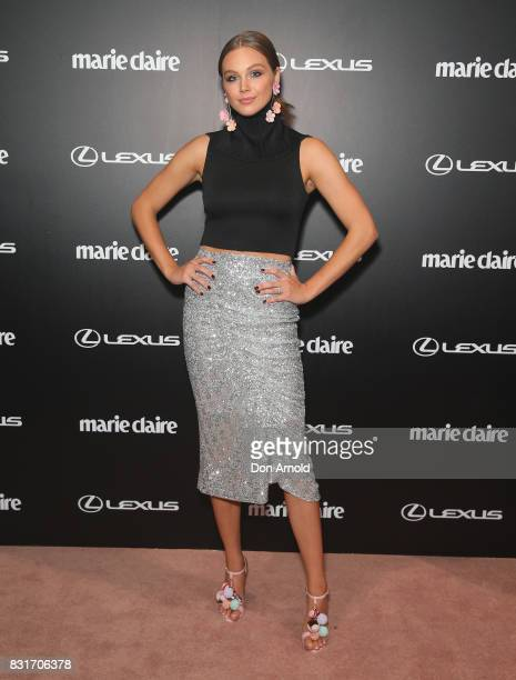 Ksenija Lukich arrives ahead of the 2017 Prix de Marie Claire Awards on August 15 2017 in Sydney Australia