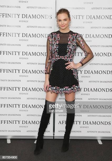 Ksenija Lukich arrives ahead of the Affinity Diamonds EBoutique Launch on July 4 2017 in Sydney Australia