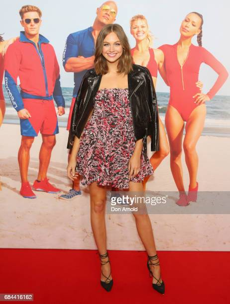 Ksenija Lukich arrives ahead of the Australian Premiere of Baywatch on May 18 2017 in Sydney Australia
