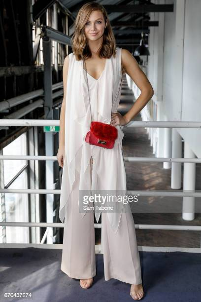 Ksenija Lukich arrives ahead of the Carla Zampatti Spring Summer 2017 Show at Sydney Theatre Company on April 20 2017 in Sydney Australia