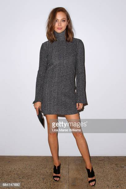 Ksenija Lukich arrives ahead of the Ellery X Etihad Airways event at MercedesBenz Fashion Week Resort 18 Collections at The Elston Room Carriageworks...