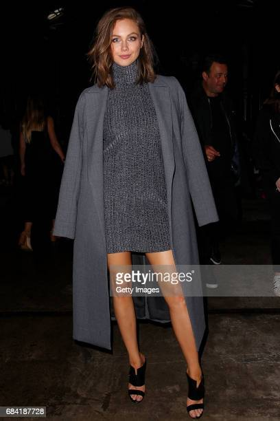 Ksenija Lukich arrives ahead of the KITX show at MercedesBenz Fashion Week Resort 18 Collections at Bay 25 Carriageworks on May 17 2017 in Sydney...