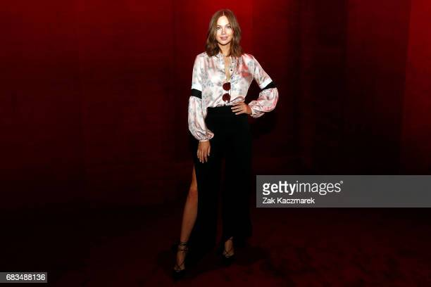 Ksenija Lukich arrives ahead of the MacGraw show at MercedesBenz Fashion Week Resort 18 Collections at Carriageworks on May 16 2017 in Sydney...