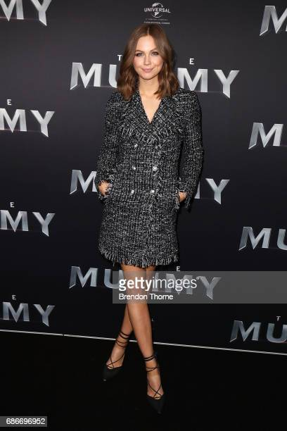 Ksenija Lukich arrives ahead of The Mummy Australian Premiere at State Theatre on May 22 2017 in Sydney Australia