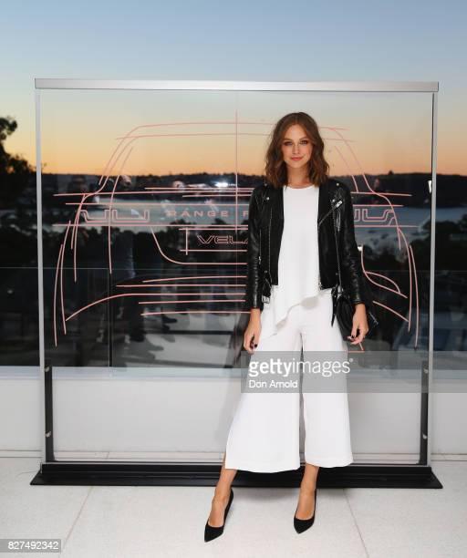 Ksenija Lukich arrives ahead of the Range Rover Velar Launch on August 8 2017 in Sydney Australia