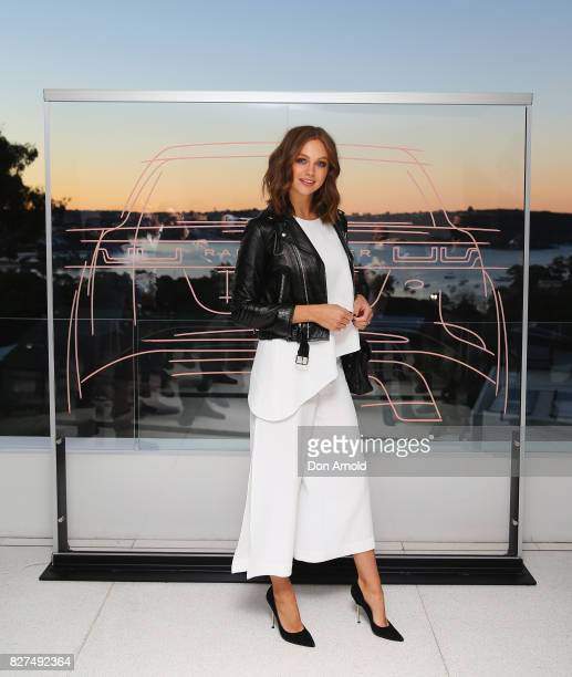 Ksenija Lukich arrives ahead of the Range Rover Velar Launch on August 8 2017 in Sydney Australia