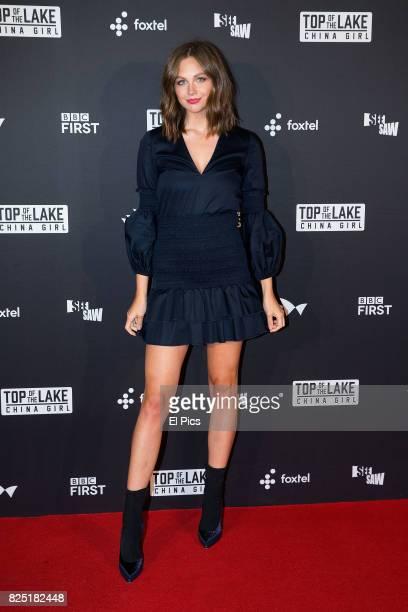 Ksenija Lukich arrives ahead of the Top of the Lake China Girl Australian Premiere at Sydney Opera House on August 1 2017 in Sydney Australia