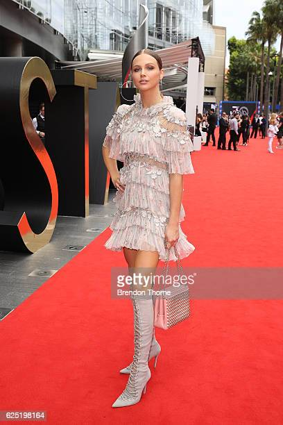 Ksenija Lukich arrives for the 30th Annual ARIA Awards 2016 at The Star on November 23 2016 in Sydney Australia