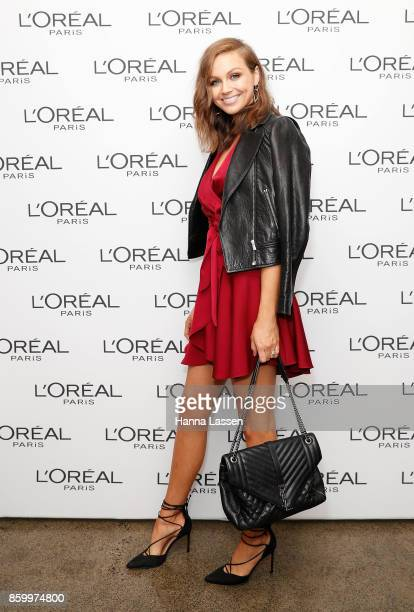 Ksenija Lukich attends a L'Oreal Paris Product Launch on October 11 2017 in Sydney Australia