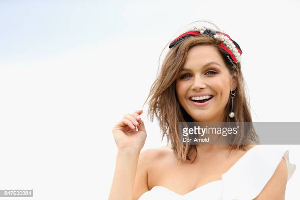 Ksenija Lukich attends Colgate Optic White Stakes Day at Royal Randwick Racecourse on September 16 2017 in Sydney Australia