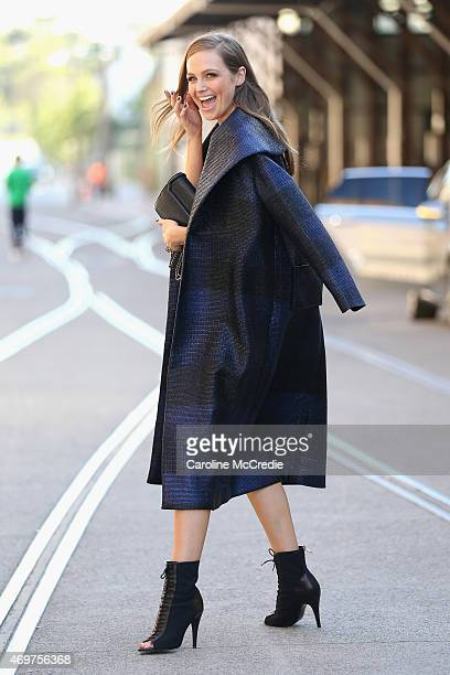 Ksenija Lukich wearing Camilla and Marc at MercedesBenz Fashion Week Australia 2015 at Carriageworks on April 15 2015 in Sydney Australia